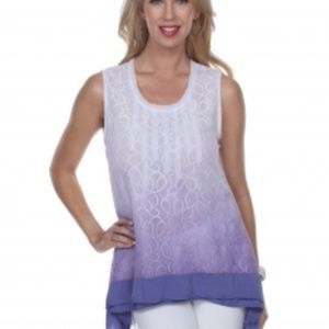 GIZEL Tops - NWT GIZEL BOUTIQUE LACE OMBRE TUNIC TOP